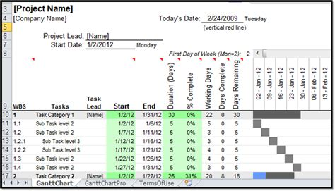 Gantt Chart Template For Excel 2010 by Excel Spreadsheet Gantt Chart Template Gantt Chart