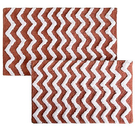 bed bath and beyond hingham notthingham home 2 piece chevron bath mat set bed bath