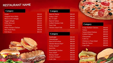 fast food menu design templates www imgkid com the