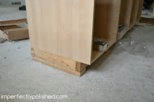 Installing our ikea kitchen cabinets