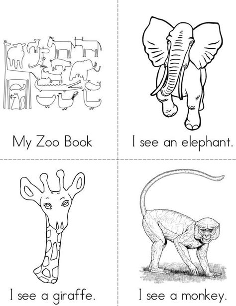 printable zoo animal book free coloring pages of zoo mini book