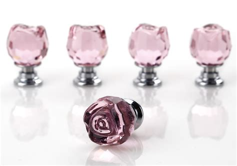Pink Glass Door Knobs Pink Glass Door Knobs Drawer Cabinet Furniture Handle 5 X 20mm Ebay