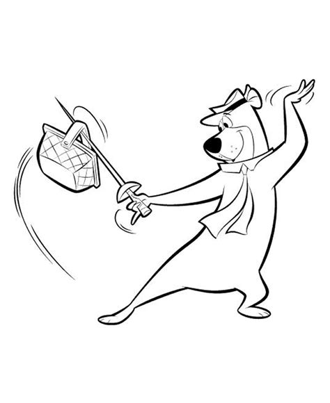 coloring pages yogi bear yogi bear coloring pages for childrens printable for free