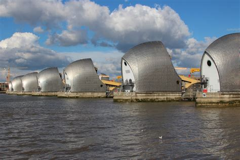 thames barrier raised thames barrier 169 oast house archive geograph britain