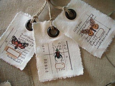 tag brand table linens cloth labels with grommets twine fabric
