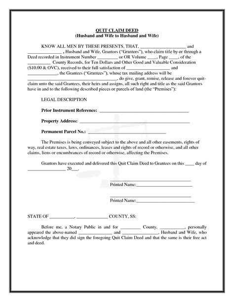 printable quit claim deed indiana best photos of quit claim deed for indiana to print