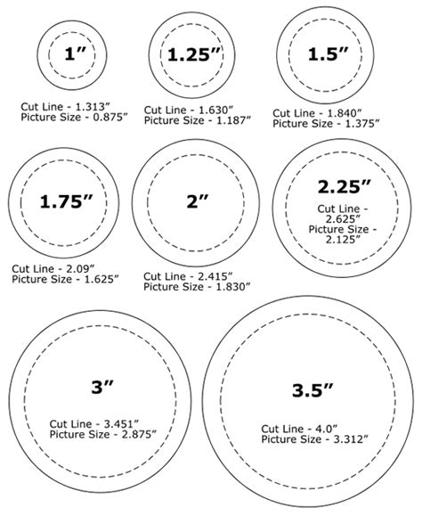 backing cards for buttons template pinback button sizes template crafty altered