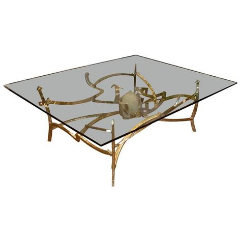 Quartz Table L Quartz Table L Vintage Brass And Quartz Table L At 1stdibs Large 1976 Dining Table In Bronze
