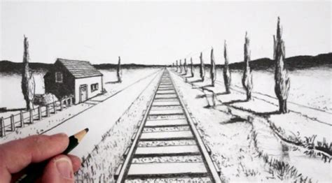 tutorial gambar perspektif 1 titik hilang pengertian gambar perspektif dan contohnya lengkap