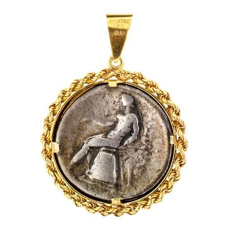 zolotas ancient coin pendant at 1stdibs