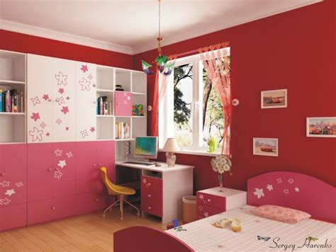 red girl bedroom ideas fireplace having built in fireplace at your home to face