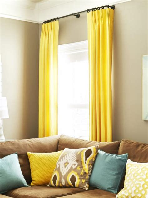 yellow curtains for living room photo page hgtv