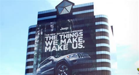 Jeep Headquarters Usa Chrysler Wraps Headquarters In Honor Of 2011 Jeep Grand
