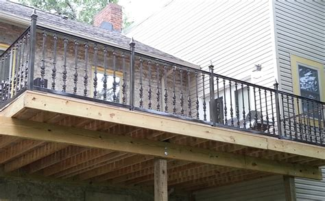 Exterior Banister by Brown Concrete Wall Can Be Decor With Metal Spindles For Exterior Rails That Can Add The