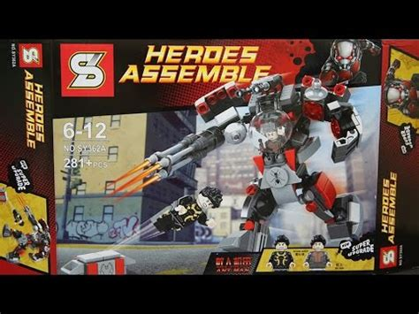 Lego Marvel Comics Yellow Jacket Ant Series Bootleg lego marvel superheroes antman yellow jacket buster mech