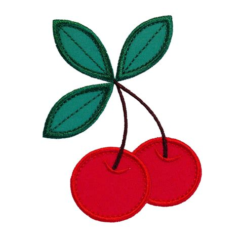 applique patterns cherries applique machine embroidery design