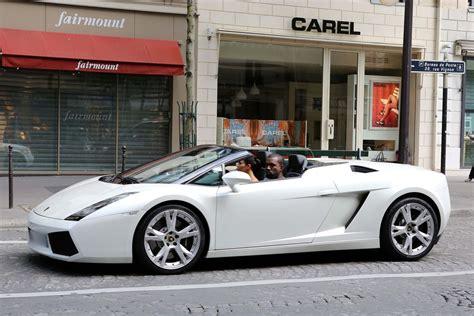 Lamborghini Kanye West Kanye West Treats To Lamborghini Ride