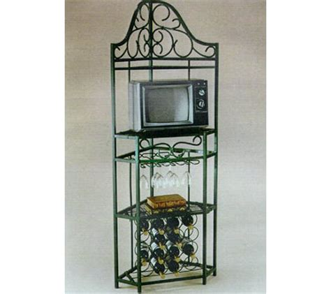 corner bakers rack with wine rack hillsdale house 5 sided corner bakers rack matte white