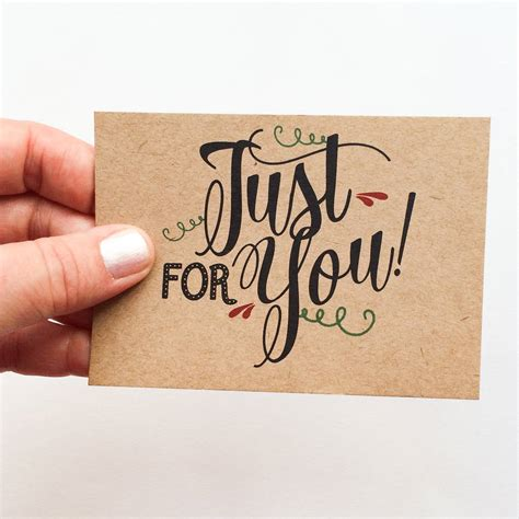 just a little note just for you gift card by rosie jo s notonthehighstreet com - A Gift For You Gift Card
