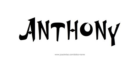 tattoo name tony anthony name tattoo designs