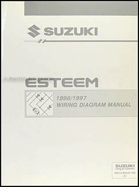 1996 suzuki esteem repair shop manual supplement original 1996 1997 suzuki esteem wiring diagram manual original