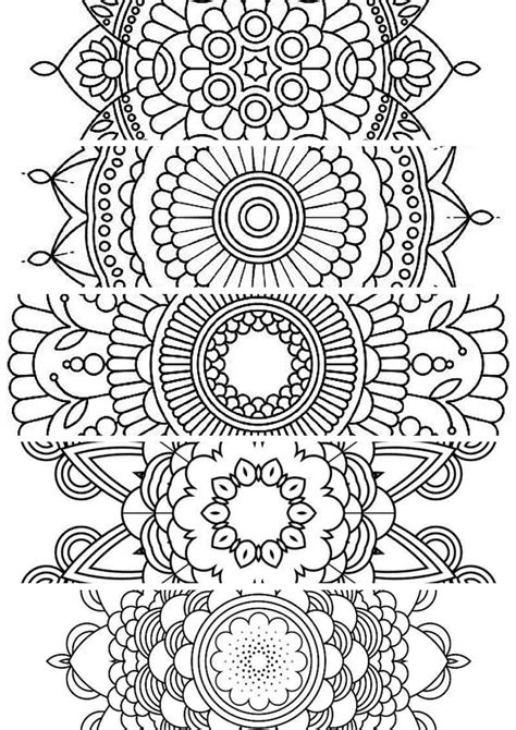 mandala coloring book markers 5 bookmarks printable bookmarks instant pdf