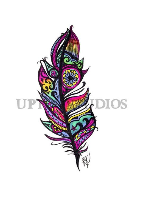 tattoo design etsy 17 best ideas about tribal feather tattoos on pinterest