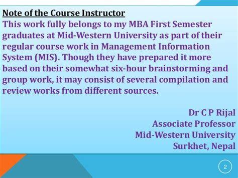 Western Michigan Mba Admission Requirements by Basic Components Of Mis Its Applications And Outcomes