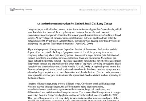 Essay About Cancer by Essay About Cancer
