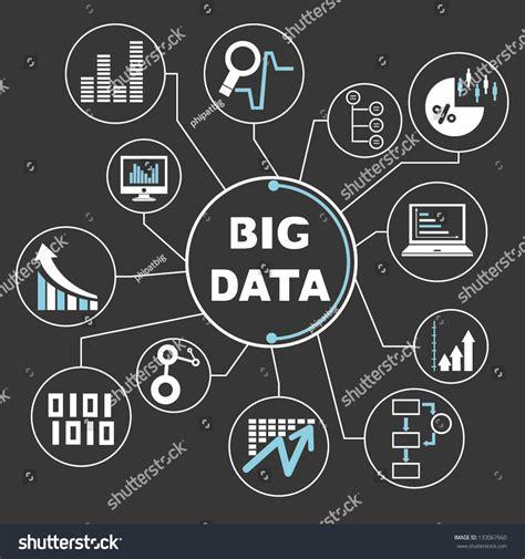 design criteria in big data big data mind mapping info graphics stock vector 133067660