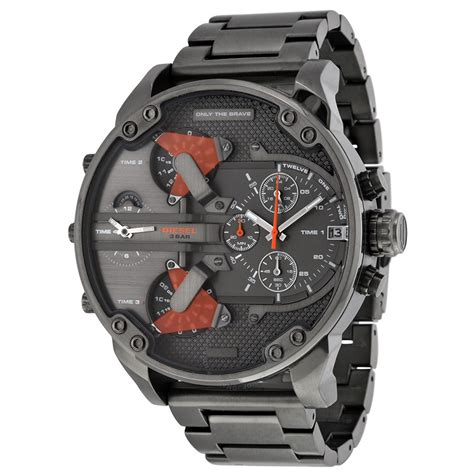 Diesel 4 Time List Black diesel the daddies chronograph four time zone gunmetal ion plated s diesel