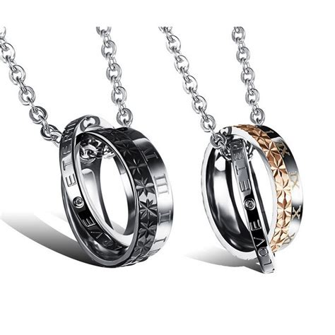 engraved forever matching jewelry set for him and