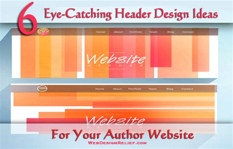 design a header in html 6 eye catching header design ideas for your author website