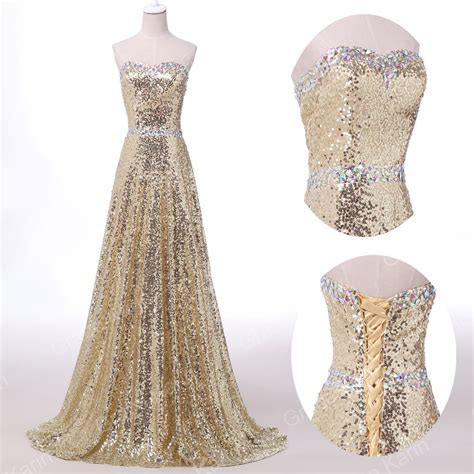 ebay evening dresses vintage sparkling sequins prom party bridesmaids gowns