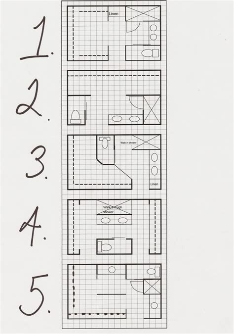 layout ideas like 1 and 3 bathroom