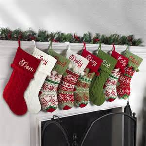Personalized Christmas Ornaments Free Shipping - personalized snowflake knit christmas stocking available in 11 designs walmart com