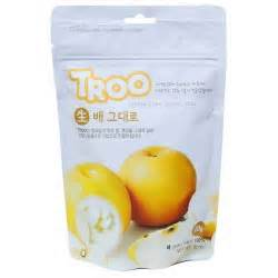 Troo Freeze Dried Korean Pear Snack Cemilan Buah Kering Pir Korea babyzania belanja perlengkapan bayi di babyshop murah dan lengkap