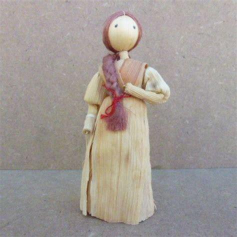 corn husk dolls freels vintage 5 corn husk doll handmade by acodamercantile
