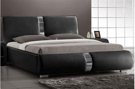 deco chambre lit noir lit design noir vitara 140 cm lits design pas cher