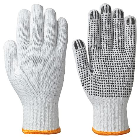 knitted gloves pioneer gloves knitted cotton poly glove dots on palm