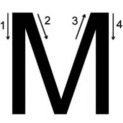 Letter M Printing Worksheet Both Cases Trace 1 Print 1