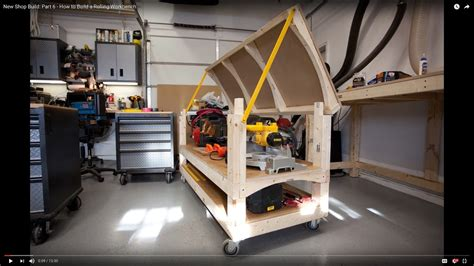 how to build a shop new shop build part 6 how to build a rolling workbench