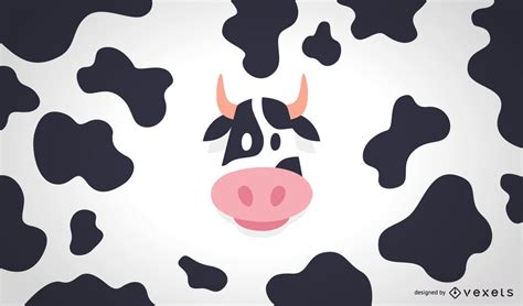 Pattern Illustrator Cow | flat cow illustration and pattern vector download