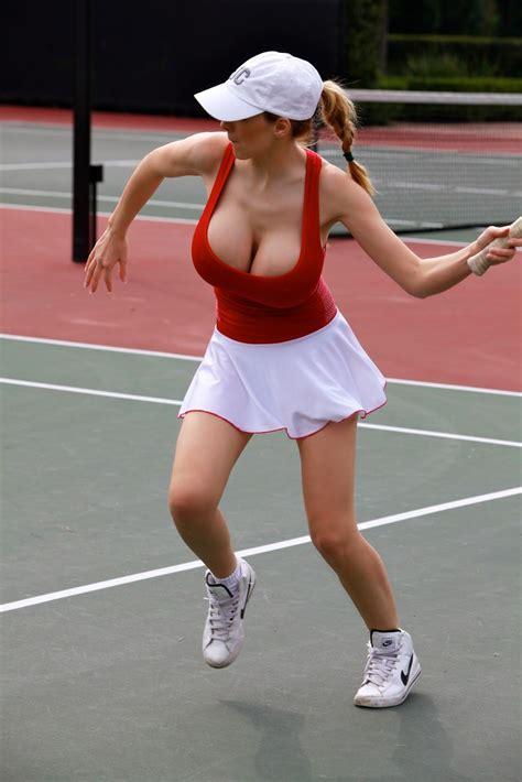jordan carver major cleavage jordan carver playing hot tennis big boobs cleavage show