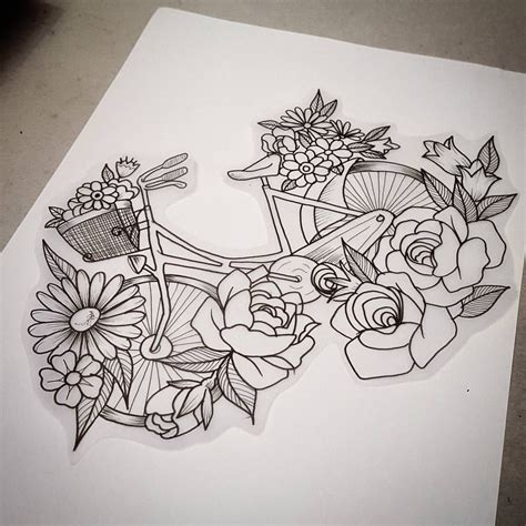 flower crown tattoo flowery bicycle cause even bikes want flower crowns to
