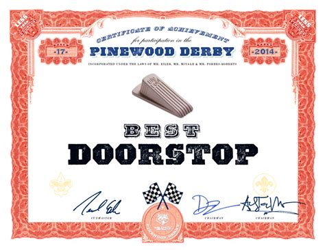 pinewood derby certificate templates dwight smith