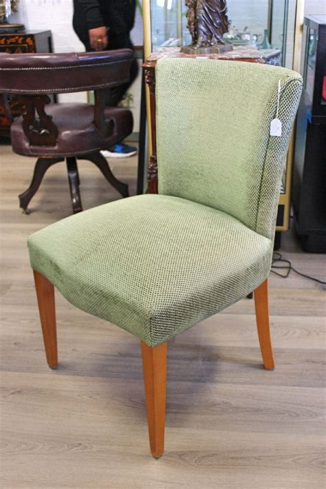 Green Upholstered Dining Chairs Four Dining Chairs Upholstered In Green Chenille By Shaw Des