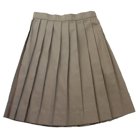 school solid knife pleat skirt ideal
