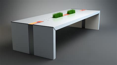 White Conference Table 3d White Conference Table Model