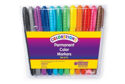 colored permanent markers colorations 174 color permanent markers set of 12